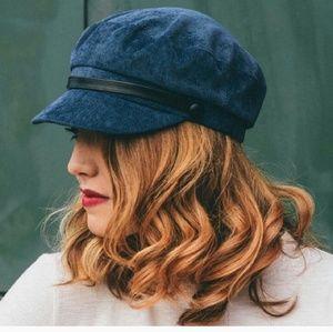 Reposh  blue corduroy newsboy cap